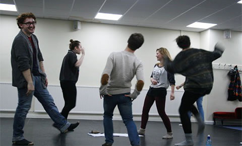 student drama workshop